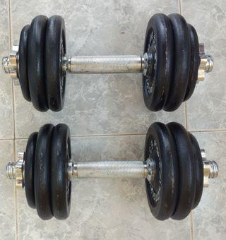 Mancuernas Hierro Fundido 30 kg Set (2 x 15 kg)