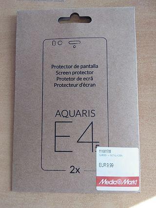 Protector pantalla 4,5''. Bq Aquaris E 4.5