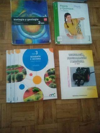 libros de texto 3°eso IES EUROPA MOSTOLES