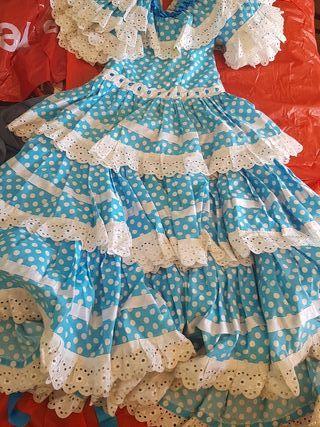 traje de Sevillana flamenca para niña de 6 a 10