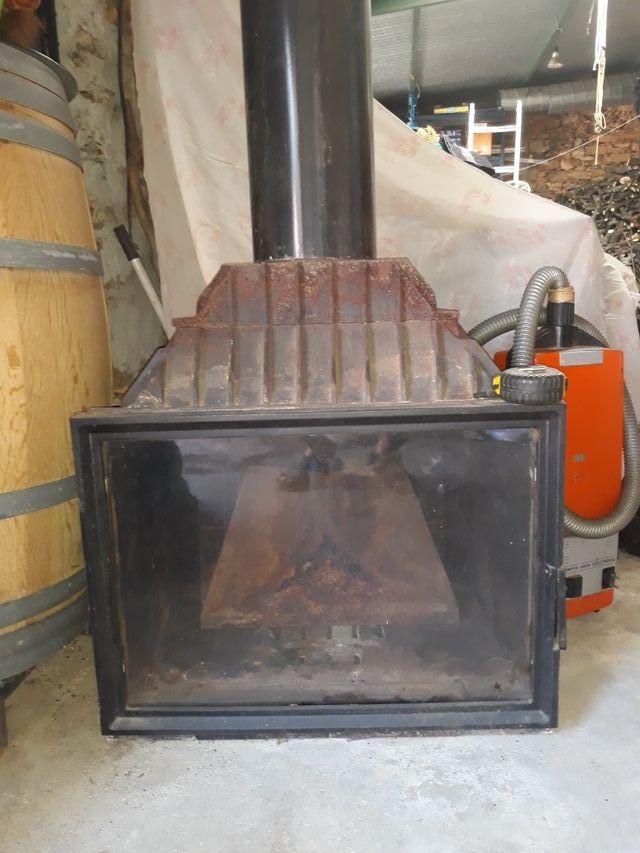 Estufa para chimenea de leña
