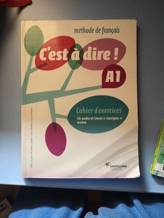 libro de ejercicios de francés nivel a1