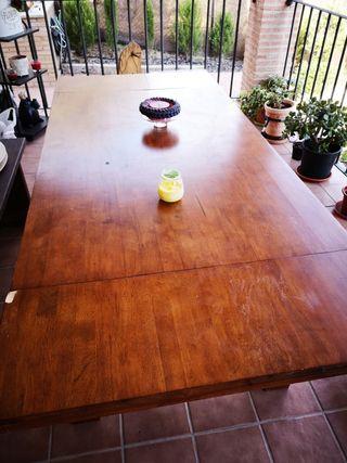 vendo mesa maciza de madera