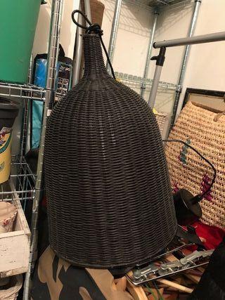 Lámpara de techo de mimbre negro Ikea