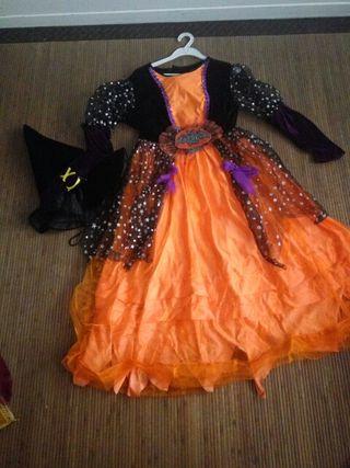 Disfraz bruja. 7-8 años