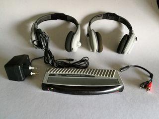 2 pares de Auriculares inalámbricos + emisor