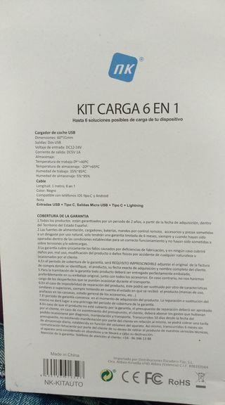 Kit cargador de moviles