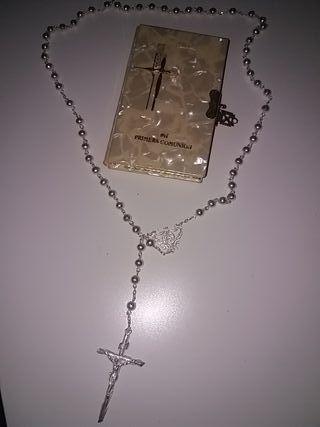 rosario y misal primera comunión