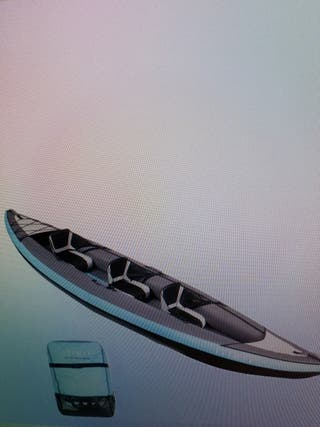 kayak canoa hinchable de 3 plazas
