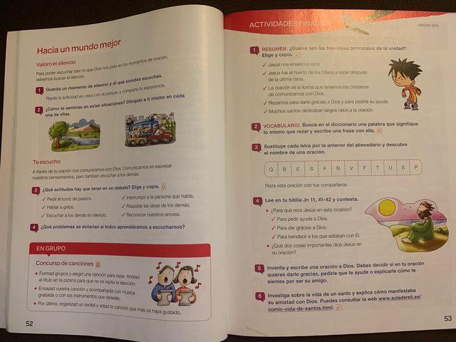 Libro de religión de 3 primaria Santillana