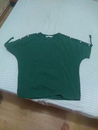 camiseta básica verde talla S Mulaya