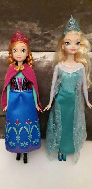Muñecas Anna y Elsa de Frozen