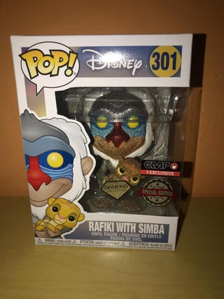 Funko pop Rafiki with simba 301 Diamond