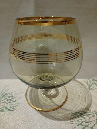 Juego 6 copas brandy/coñac Vintage