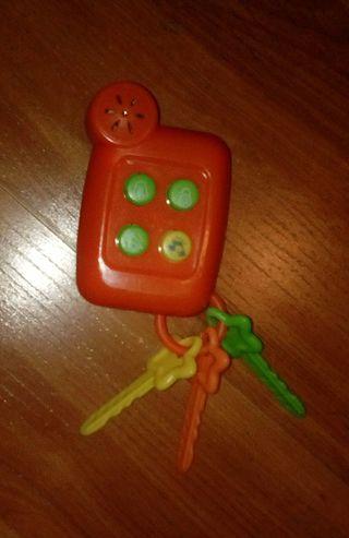 llaves musicales de juguete