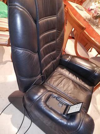 sillón masaje relax cuero