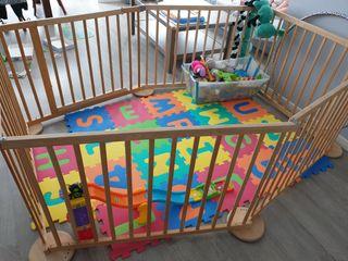 Corralito parque vallas bebé gemelar grande