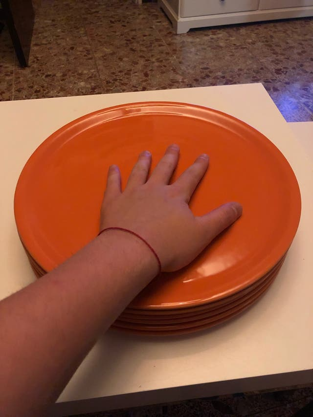Platos naranjas pack de 6 unidades