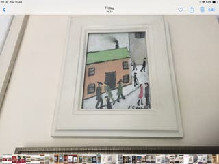 Oil painting on canvas signed after L S Lowry