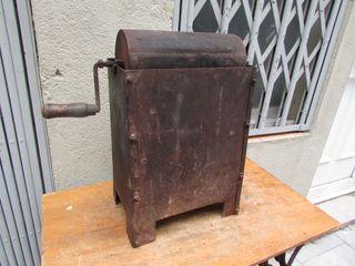 Tostadora de café antigua con brasero. Manual
