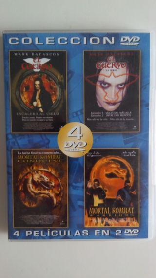 Colección 4 dvd mortal kombat - cuervo
