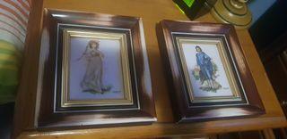 dos cuadros pequeños