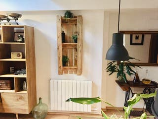 botellero estanteria jardin vertical madera palet