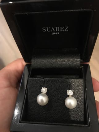 Pendiente de perlas