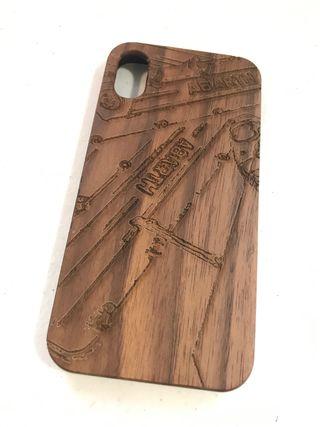 Funda madera iPhone X Abarth