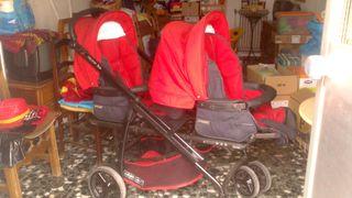 Carro Gemelar; masicoxis, sillas