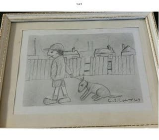 Original drawing Signed L S Lowry