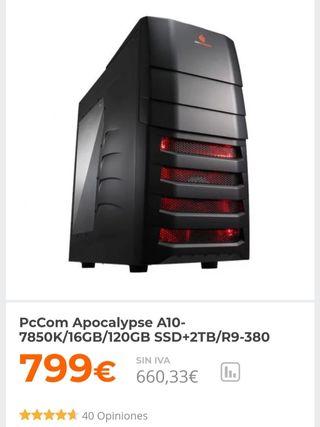 NEGOCIABLE! PC AMD A10+R9 380+16GB RAM+120GB SDD