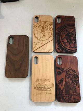 Fundas iPhone X de madera