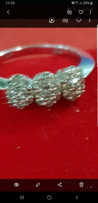 anillo pave diamantes