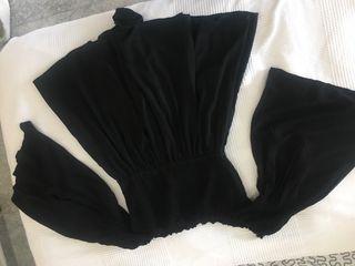 Mono negro manga ancha