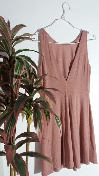 Vestido rosa brillante