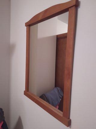 Espejo pared madera