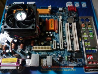 Placa Base Asrock AM2 + Procesador + Disipador