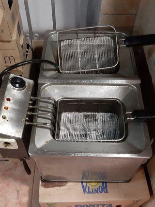 freidora 2 cubas