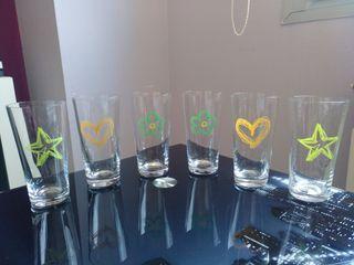 vasos cristal bohemia
