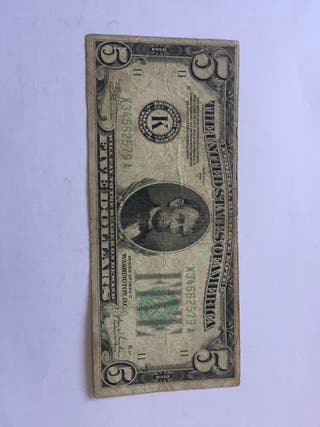 Billete 5 Dollares 1934