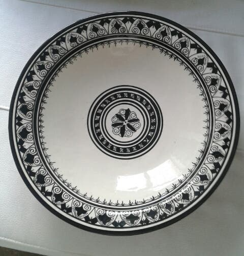 Gran plato decoración