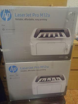 impresora hp laserjet pro M12A M12W