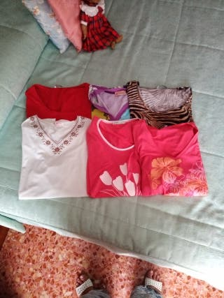 Lote 6 camisetas mujer