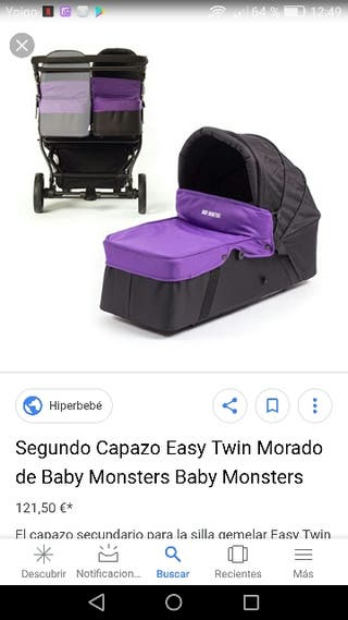 2 capazos baby monsters easy twin