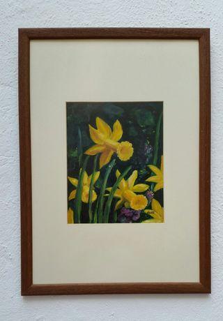 Pintura flores amarillas