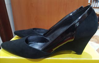 Zapatos de tacón-cuña