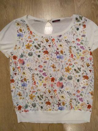 Camiseta de punto floral Kookai T L