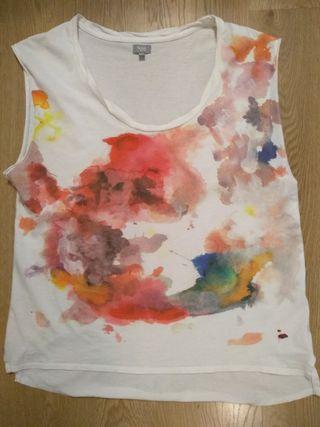 Camiseta Hoss Intropia estampado acuarela XL