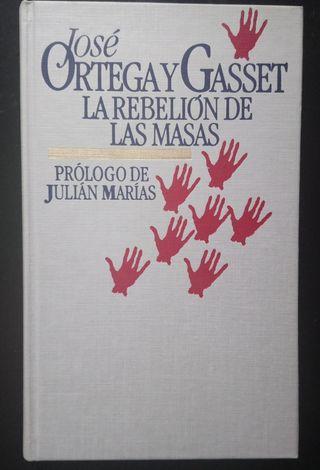Libro. La rebelión de las masas